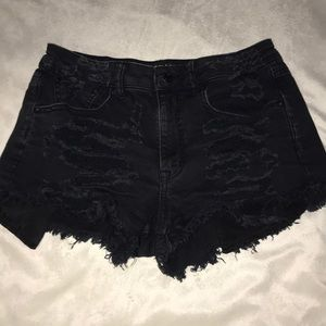 American Eagle High Waisted Distressed Jean Shorts